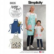 8826 Simplicity Pattern: Child's and Misses' Aprons